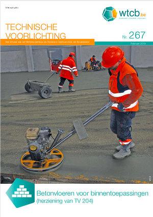 TV 267 betonvloeren voor binnentoepassingen vervangt de TV 204